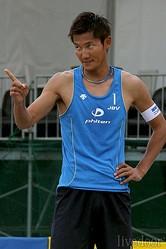 予選リーグを戦った朝日健太郎・青木晋平組は、1勝2敗。準決勝への道が閉ざされてしまった (撮影:野原誠治)