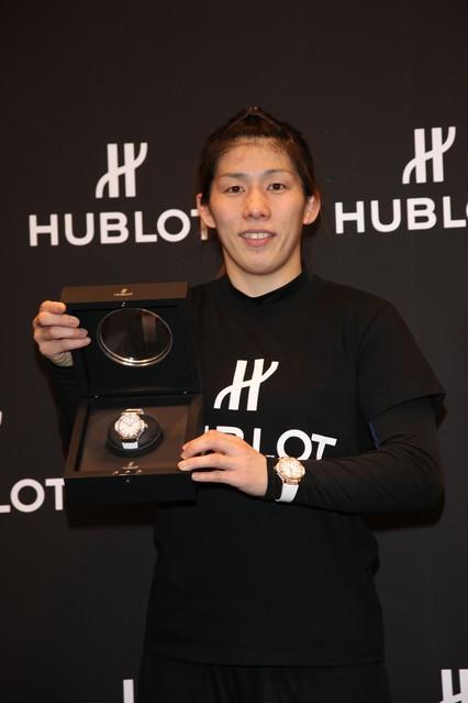 ウブロが吉田沙保里選手とチャリティーの一環で世界限定1本のスペシャルウォッチを発表!