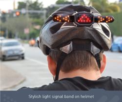自転車事故はこれで防止 後頭部に装着する方向指示器『Rider Tech』