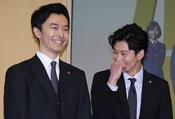 TBSの入社式にサプライズ登場した長谷川博己&岡田将生