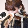 2014年4月9日、会見を行う小保方晴子氏(撮影=吉田尚弘)
