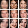 写真は「Google Brain」が発表したモザイク除去の研究成果。【A】はモザイク処理された画像で、【B】はAIがモザイク内を再構築した画像。そして【C】が【A】の実在の人物となる。ガッツリなモザイクから、AIがほぼほぼ実在の人物を特定してしまうスゴイ技術!