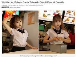 台湾のマクドナルドに超絶カワイイ店員が(画像はanekainfounik.netのスクリーンショット)