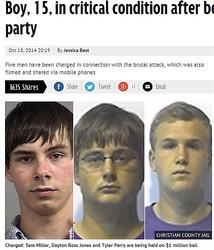 米15歳少年を襲った大学生ら(画像はmirror.co.ukのスクリーンショット)