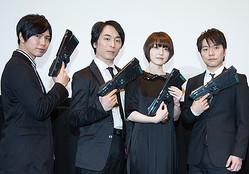 (左から)神谷浩史、関智一、花澤香菜、野島健児 (C)サイコパス製作委員会