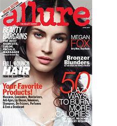 女性向けファッション誌『Allure』6月号で、特集が組まれた女優のミーガン・フォックス。インタビューでは、自分のダークな一面をさらけ出した。