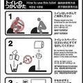 和式トイレ(センサー式)の使い方ステッカー