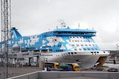 フィンランド・ヘルシンキからエストニア・タリンまでを結ぶ船の1つ(撮影:佐谷恭)