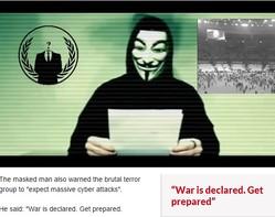 「イスラム国」の動きを封じ込めるのは、あのハッキング集団「アノニマス」?(画像はdailystar.co.ukのスクリーンショット)