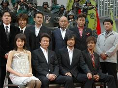 「戦国自衛隊1549」の出演者ら(撮影:佐藤学)