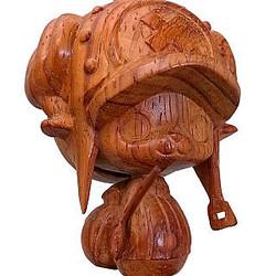 ワンピースから木彫りの熊ならぬ木彫りのチョッパー登場! 素材は紅木を使用