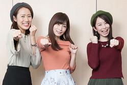 左から、守永真彩ちゃん、石岡真衣ちゃん、さくまみおちゃん