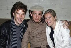 警察に通報したマーティン&アマンダ(右)とカンバーバッチ(写真は2009年撮影)  - Dave M. Benett / Getty Images