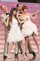 大島優子、篠田麻里子(AKB48) 、パパイヤ鈴木とおやじダンサーズ