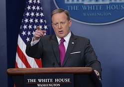ホワイトハウス報道官ショーン・スパイサー(写真は現地時間3月9日に撮影されたもの)  - Alex Wong / Getty Images