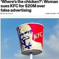KFC、20億円の損害賠償を請求される(出典:http://nypost.com)