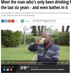 [画像] 【海外発!Breaking News】飲尿療法を始めて6年 50kgの減量に成功した男性(英)