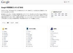 Google検索ランキングから解く 2012年の注目キーワード