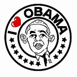 「オバマ候補を勝手に応援する会」が作成した応援イラストの新デザイン