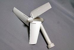 「風力発電キット」が完成