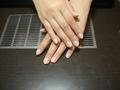 女性客の爪(ネイル前)