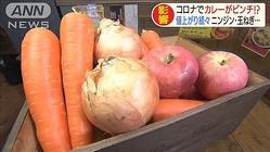"""カレー店""""二重苦""""コロナで肉、野菜↑ 家計も直撃"""