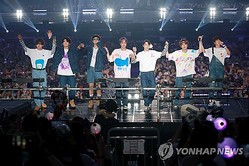 BTSが今月ソウルで開いたグローバルファンミーティングの様子(所属事務所提供、転載・転用禁止)=(聯合ニュース)