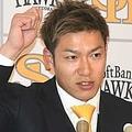 契約更改に臨んだソフトバンク・柳田悠岐【写真:藤浦一都】