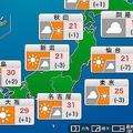 梅雨入り前の最後の日曜日は日差しが復活 西日本は30℃前後