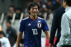 心からサッカーを楽しんでいる姿が印象的だった中島。次の代表戦でもその笑顔が見られるか注目だ。写真:山崎賢人(サッカーダイジェスト写真部)