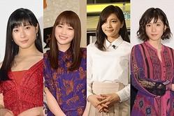 (左から)土屋太鳳、川栄李奈、川口春奈、松岡茉優