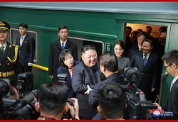 4回目の訪中を終え北京を発つ金正恩氏(2019年1月10日付朝鮮中央通信)