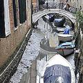 水の都とも呼ばれるベネチア 水位が大きく低下し一時的に水が消滅