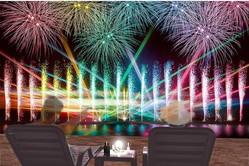 「泉州光と音の夢花火」大阪泉南市で、25,000発の花火&海上噴水ショー