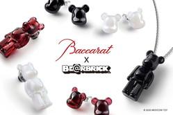 「バカラ ベアブリック」クリスタルのネックレスやピアス、ブラッククリスタル製ベアブリックも