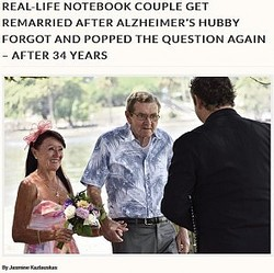 アルツハイマー病の夫と再び愛を誓った妻(画像は『Storytrender 2018年1月22日付「REAL-LIFE NOTEBOOK COUPLE GET REMARRIED AFTER ALZHEIMER'S HUBBY FORGOT AND POPPED THE QUESTION AGAIN - AFTER 34 YEARS」(Jasmine Kazlauskas)』のスクリーンショット)