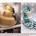 孔雀のはずが…ケーキに新婦激怒