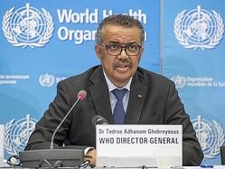 世界保健機関(WHO)のテドロス事務局長=WHOのツイッターから