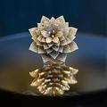 7801個のダイヤモンドがあしらわれた指輪。インド・ハイデラバードの宝石店で(2020年11月3日撮影)。(c)NOAH SEELAM / AFP