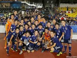 昨年秋のAFC U-16選手権を制した日本