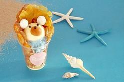 ワッフルアイス専門店「Popping Waffle」から夏限定の「白くまワッフル」(800円)が登場!