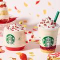 スタバのホリデーシーズン第1弾!「メリーストロベリー ケーキ フラペチーノ」がクリスマスケーキみたいでかわいすぎる…♡