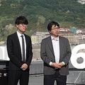 第65回サンセバスチャン国際映画祭にて、武内宣之監督(右)と川村元気プロデューサー
