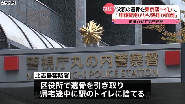 父の遺骨を東京駅のト…