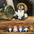 焼き物風など6種類のたぬきがミニフィギュアに「座る狸」発売