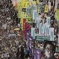 香港民主派のデモは5万人を超えた AP/AFLO