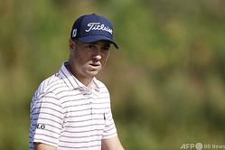 男子ゴルフ米国ツアー、セントリー・トーナメント・オブ・チャンピオンズ最終日に臨むジャスティン・トーマス(2021年1月10日撮影)。(c)Cliff Hawkins/Getty Images/AFP