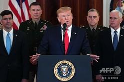 米首都ワシントンのホワイトハウスで会見するドナルド・トランプ大統領(2020年1月8日撮影)。(c)SAUL LOEB / AFP