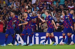 CLでドルトムントと対戦するバルセロナ photo/Getty Images