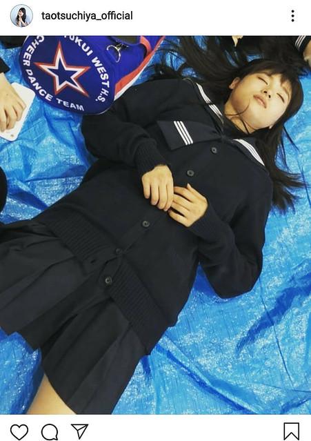 【芸能】土屋太鳳、セーラー服姿のぐっすり寝顔ショット公開に「可愛過ぎます」と称賛の声